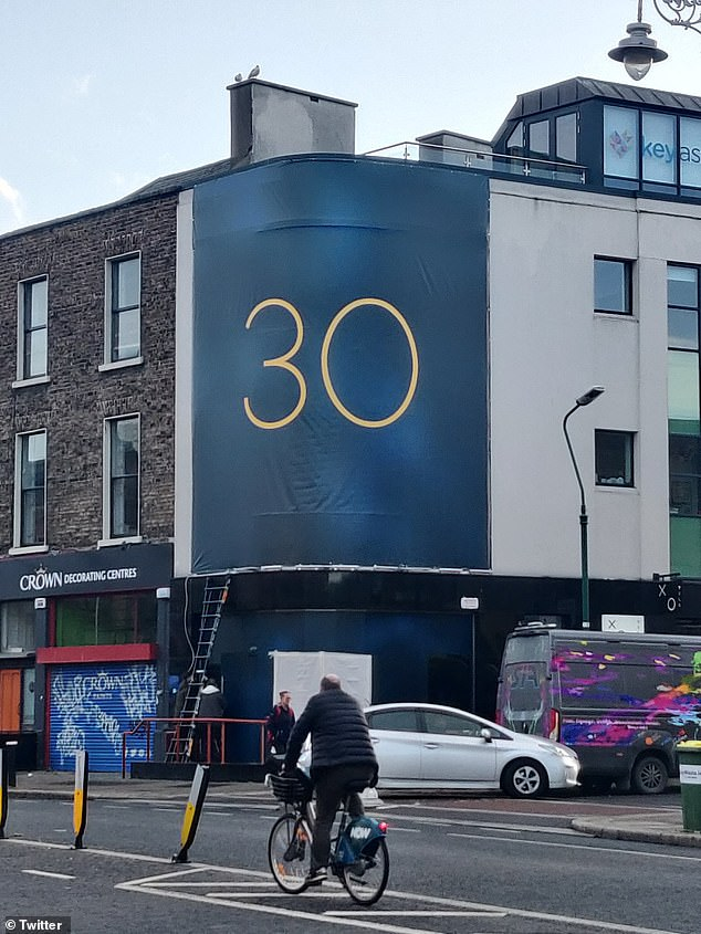 You can't miss it! A billboard was spotted on the wall of a building in Dublin, Ireland