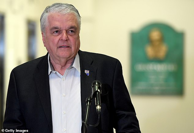 They were protesting a recent order by Nevada Gov. Steve Sisolak mandating COVID-19 vaccines for state prison workers and health care workers at facilities with high-risk people