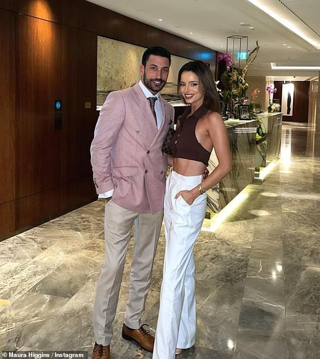 Besotted: Meanwhile Maura's boyfriend, Strictly Come Dancing's Giovanni Pernis, is said to be 'totally in love' with beauty, so much so that the professional dancer's friends are convinced he's going to 'pop the question'. Used to be.