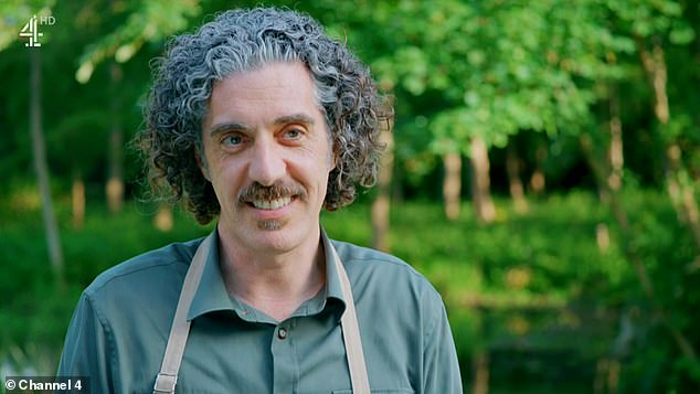 Happy: Elsewhere Giuseppe impresses judges Pru Leith and Paul Hollywood and is crowned Star Baker