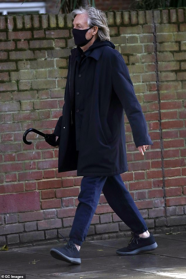 Paul - who was seen walking in London today (pictured) - revealed that his farm is completely organic and the property uses no pesticides or fertilizers