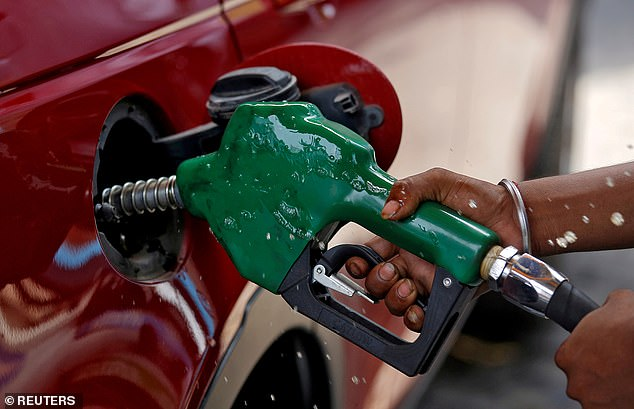 Petrol pain: The fuel price is on the rise and may cross a record high of 142.48pa liter unleaded before Christmas, adding further pressure on domestic finances.