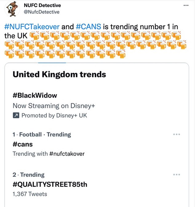 It was used so widely following the update that it began to trend as No 1 across the UK