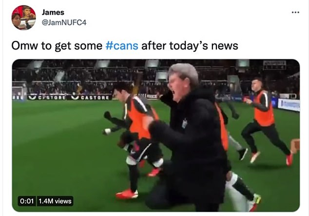 The running #cans joke was popular following news of a positive update on the takeover