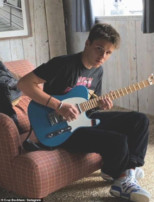 Fledgling pop star? Cruz previously shared with his Instagram followers that he hopes to have a career in music