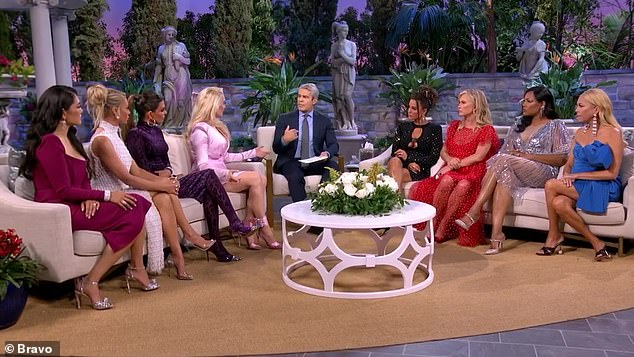 Round table from hell: Erika makes it clear that she expects her fellow housewives to back her up
