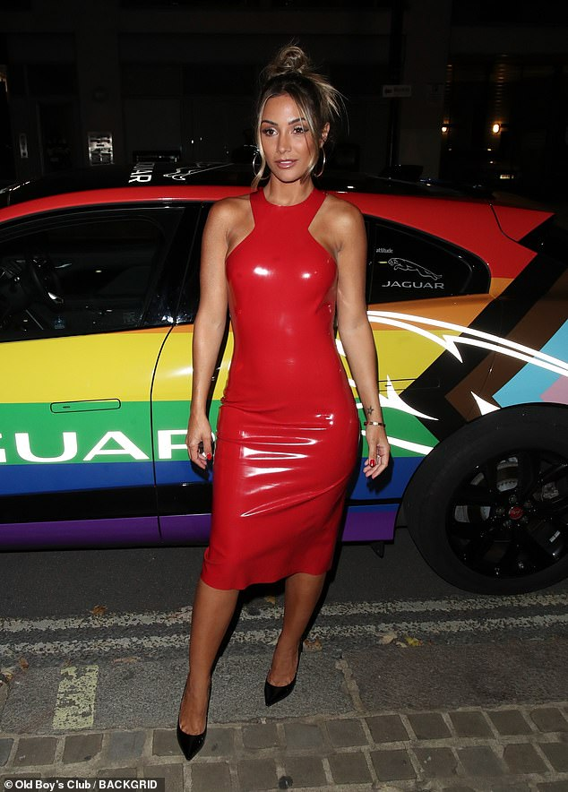Wow: Frankie Bridges looked sensational as she attended the 2021 Attitude Awards in London on Wednesday