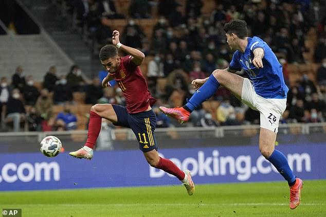 Torres poked homeMikel Oyarzabal's cross on 17 minutes to put Luis Enrique's La Roja in front