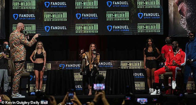 The Fury-Wilder press conference saw sparks flying ahead of Saturday's Las Vegas trilogy fight