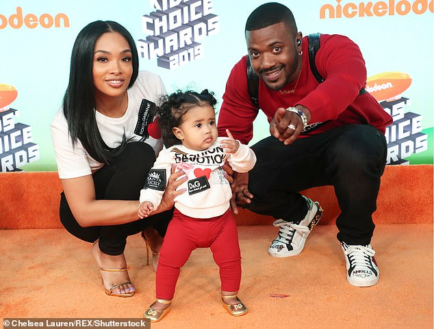Reconciled:He also asked the judge to grant him joint custody of their children, three-year-old Melody and one-year-old Epik; pictured with Melody in 2019 in LA