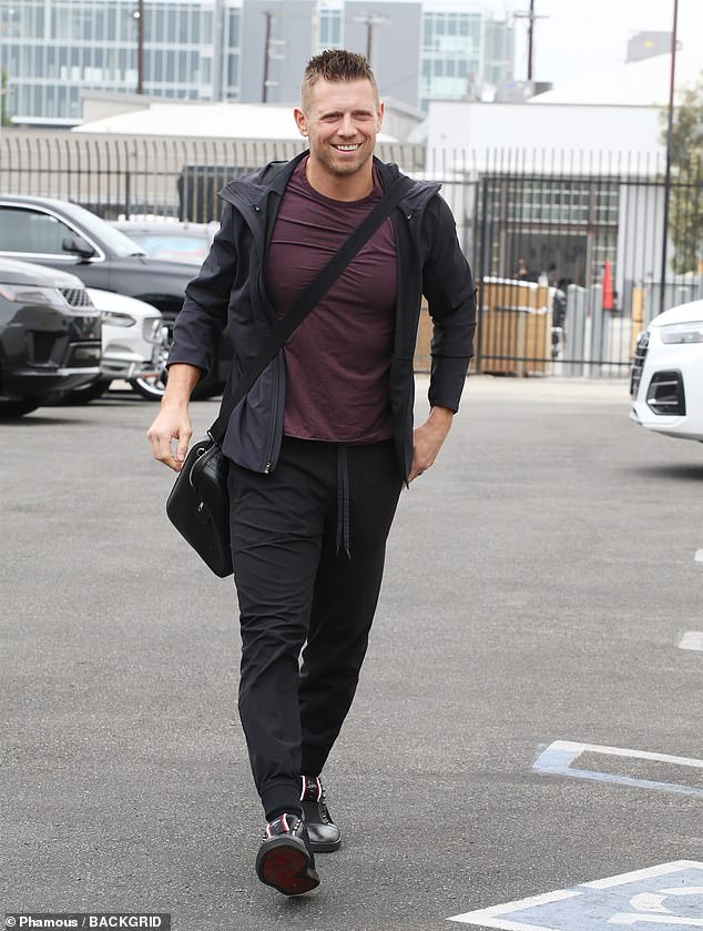 Seventh place:WWE wrestler Mike 'The Miz' Mizanin wore laceless boots and sweats to rehearse his Quickstep and Argentine tango