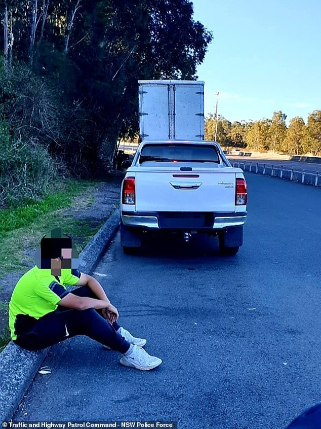 The young tradie was issued $4174 in fines and 13 demerit points, while also breaching NSW's public health orders, leaving the Canterbury-Bankstown LGA without a reasonable excuse