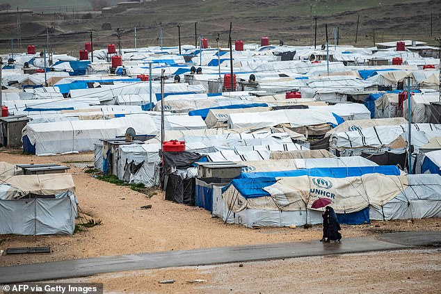 Camp Rose in Syria, where relatives of ISIS suspects are held