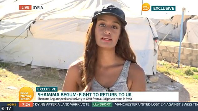 Ms Jack, 34, is being held in the same camp as Isis bride Shamima Begum (speaking to ITV's Good Morning Britain last month) and has been under Isis rule for three years.