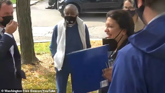 , Rashida Tlaib admits she is only wearing a mask because a 'Republican tracker' is near her, The Today News USA