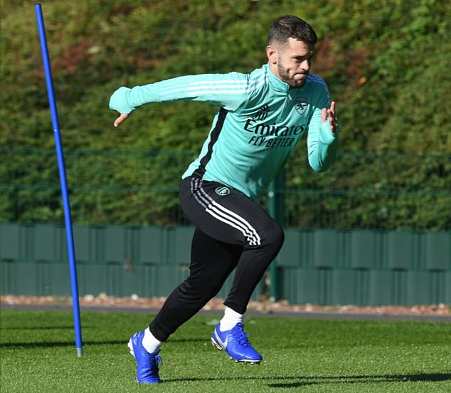 The 29-year-old was pictured doing some sprints on Thursday morning at the training base