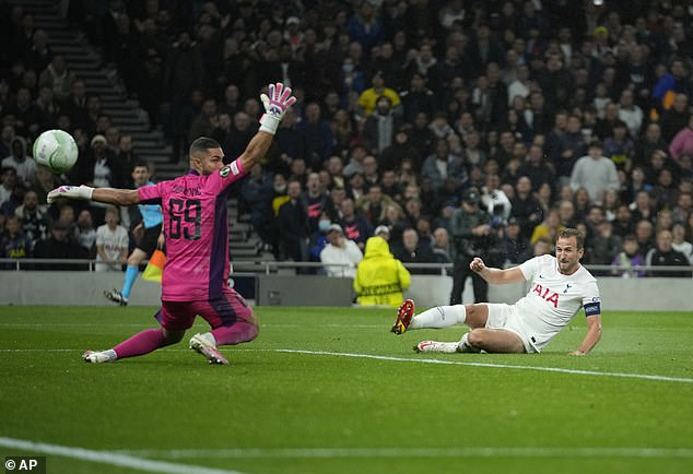 Five of Kane's six Spurs goals have come in the UEFA Europa Conference League