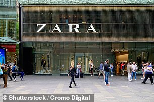 Zara was listed among self-selling brands on the use of recycled bottles in clothing