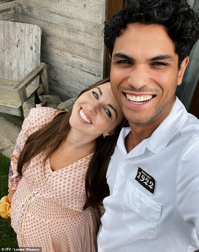 New parents: The star who plays Ruby Allen on the BBC soap welcomed her daughter with her fiancé Ben Bhanwra, but they both contracted coronavirus soon after birth