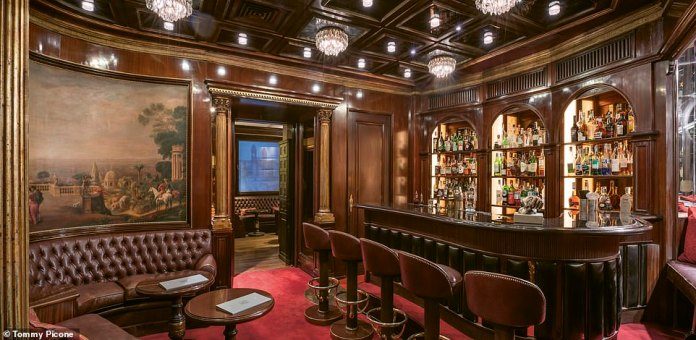 Drinking at Hotel Hassler is carried out amid impeccable decor, as this image shows