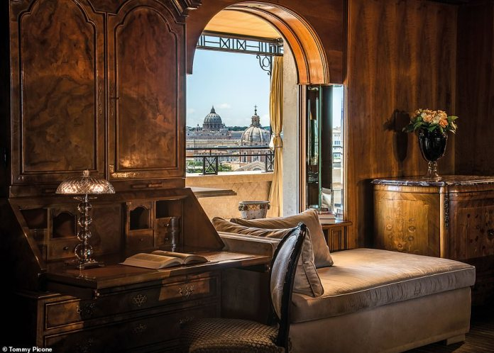 The stunning view from the Hotel Hassler San Pietro Suite, located on the sixth floor