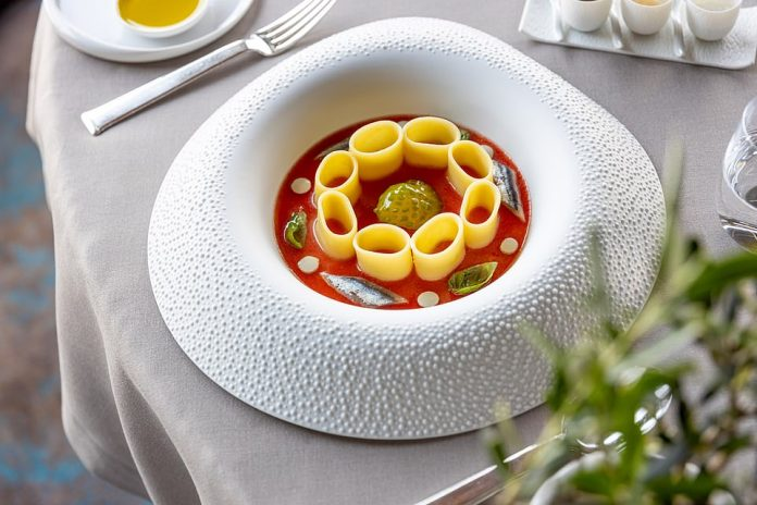 One of the mouthwatering dishes served up at Hotel Eden's La Terrazza restaurant - which is one of the best eateries in Rome, according to Frank