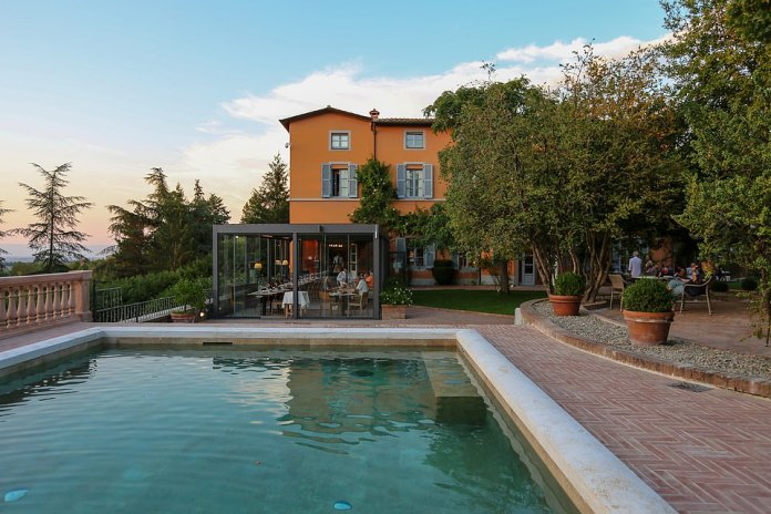 Many Hassler guests go on to stay at Hotel Vannucci, pictured, in the picturesque Umbrian town of Citta della Pieve