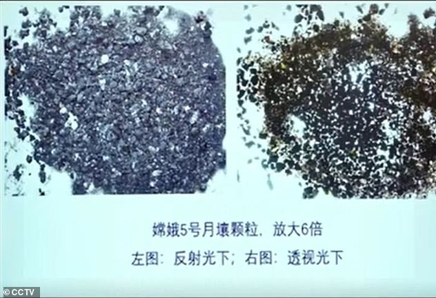 China shared a look at the first samples of the Moon, which were to be brought back to Earth more than 45 years ago in February 2021, just months after they returned