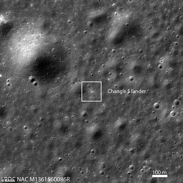 The probe targeted a 4,265-foot-high volcanic complex called Mons Rumkar near the Moon, an area known as Oceanus Procellarum, which is Latin for Ocean of Storms.