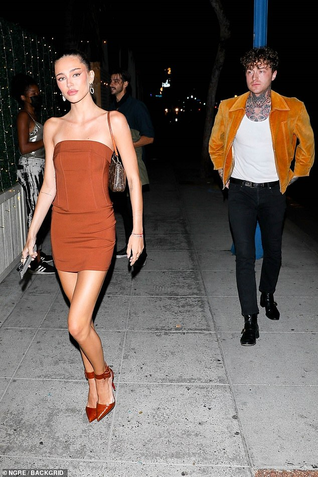 Work it: She put on a confident display as she strutted down the street