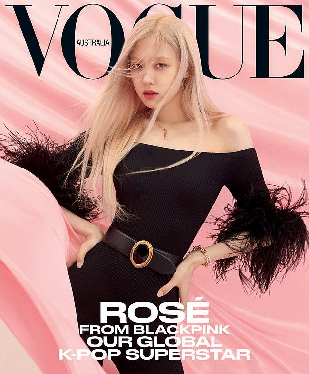 cover girl!  Kiwi-Australian K-pop star Roseanne 'Rose' Park of Blackpink is making waves below with her first Vogue magazine cover