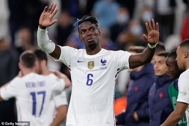 Pogba returned to Turin on Thursday to take part in France's Nations League match against Belgium