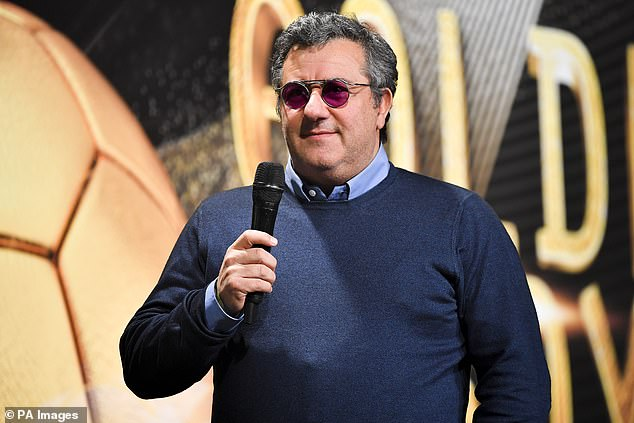 Pogba's agent, Mino Raiola (above), says Juventus and the city of Turin are still 'in his heart'