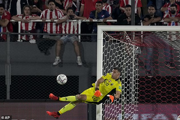 Emiliano Martinez was more regularly tested in the second-half as Paraguay pushed for a win