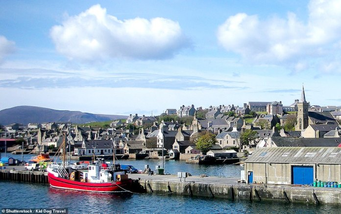Norwegian's Southampton-to-Amsterdam cruise stops off atKirkwall, the capital of the Orkney Isles, pictured