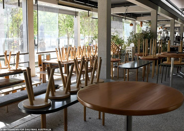 The tables and chairs are empty now, but will be in hot demand come Monday when NSW opens up after more than three months in lockdown