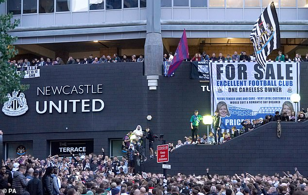 Shearer defended fans who gathered en masse to celebrate the sale of the club on Thursday