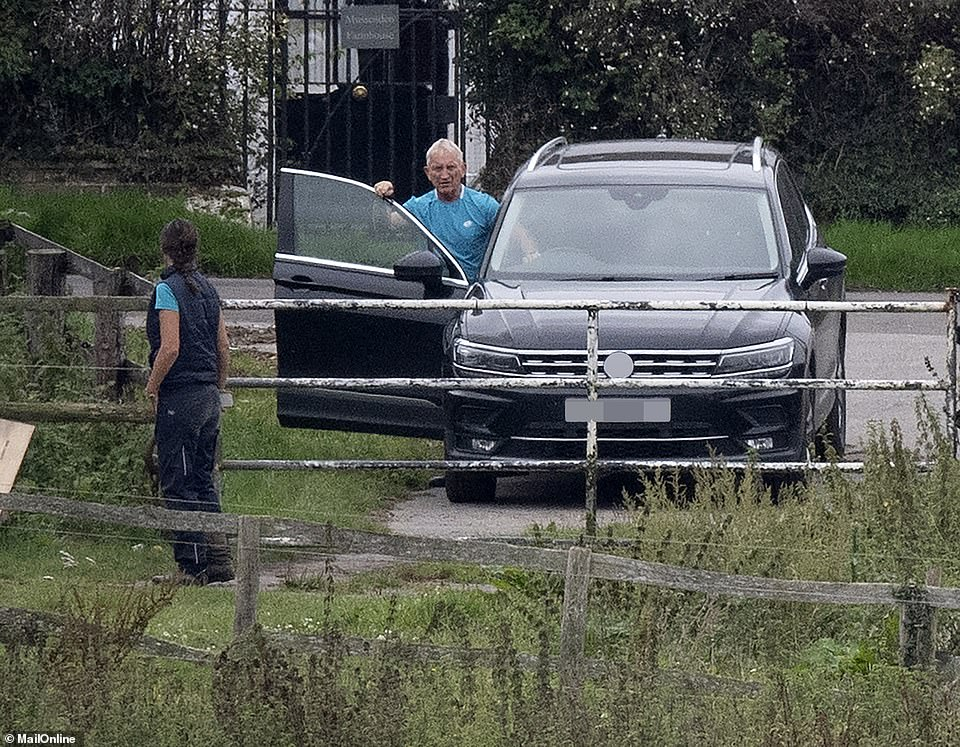 Kenny Noye, 74, is pictured this week visiting the stables of new friend Michelle Budd, 47, before the pair drove off together