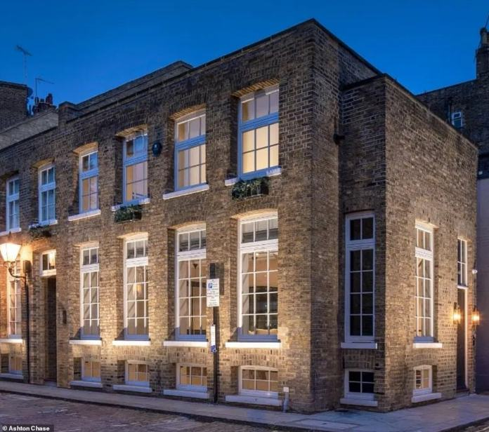 Ellie Goulding appears to be struggling to sell her four-bedroom home in London (pictured) as she has slashed her asking price from £350,000 to £5.6 million