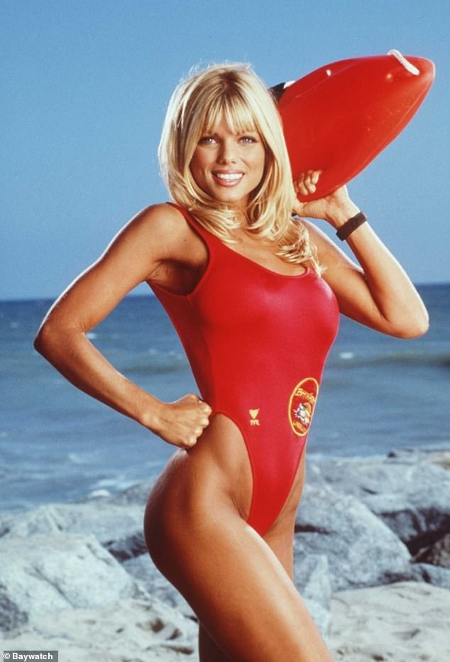 Back in the day: Donna rose to fame in the nineties as Baywatch lifeguard Donna Marco