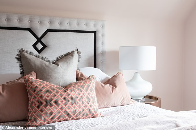 Pictured: Dulux Velvet Truffle 5can be used as a subtle pink base to a neutral bedroom