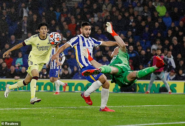 The keeper was also praised for a crucial interception in the draw at Brighton & Hove Albion
