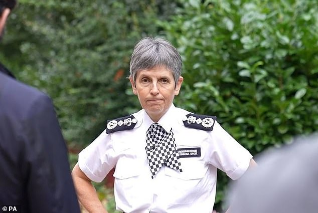 Metropolitan Police Commissioner Cressida Dick, pictured, has faced major criticism for the force's failure to prevent Ms Everard's murder and pick up on Couzens's prior behaviour