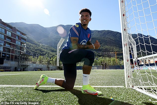 Jadon Sancho to be handed the start by Gareth Southgate for England's tour of Andorra