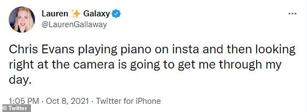 'Chris Evans playing a melodious tune on his piano is the only thing I want to see him trend for in Autumn,' one Twitter follower gushed