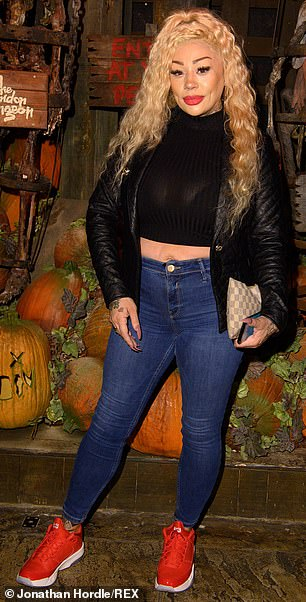 Make it work!  Mutya Buena looked sensational in a polo-neck black cropped sweater, which she wore under a matching leather jacket and navy jeans.