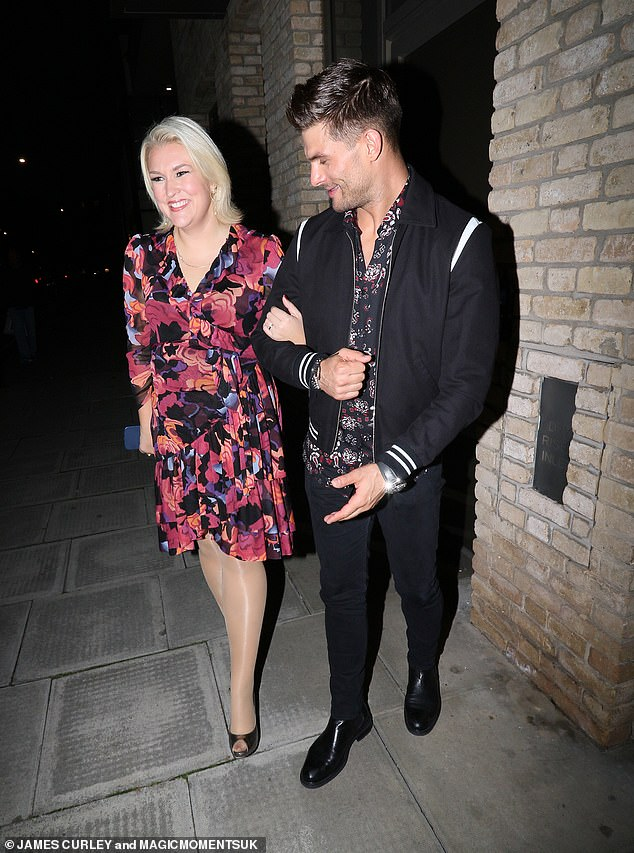 What a pairing: Katya and Adam were joined by fellow dancing couple Aljaz Skorzenyk, 31, and Sarah Davis, 37, who also appeared on the spin-off show It Takes Two on Friday.