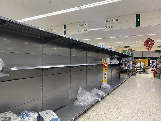 Around one in six Britons have been unable to buy essential food items in the last fortnight, figures have suggested, amid fears of empty supermarket shelves as Christmas approaches