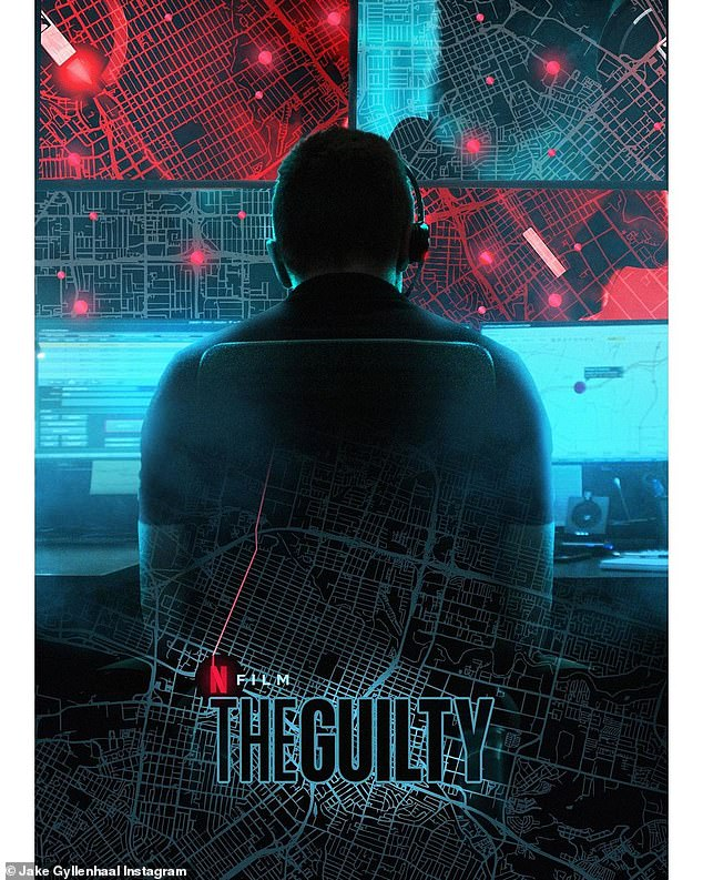 High praise: Gyllenhaal thankedFuqua for making The Guilty No. 1 on Netflix