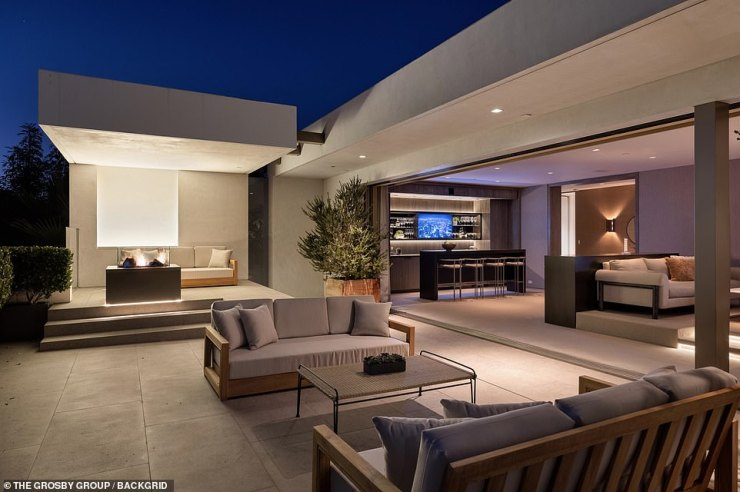 Massive:The 11,000 square-foot home includes six bedrooms and 11 bathrooms